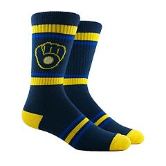 Men's Milwaukee Brewers Striped Crew Socks