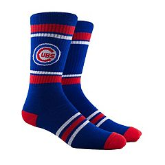 Men's Chicago Cubs Striped Crew Socks