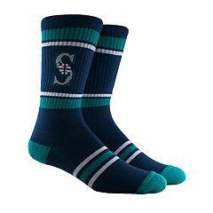 Men's Seattle Mariners Striped Crew Socks