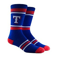 Men's Texas Rangers Striped Crew Socks