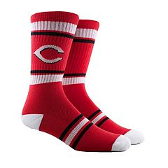 Men's Cincinnati Reds Striped Crew Socks