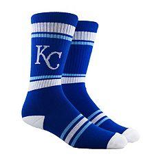 Men's Kansas City Royals Striped Crew Socks