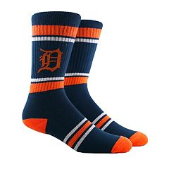 Men's Detroit Tigers Striped Crew Socks