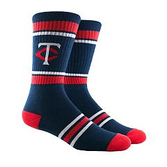 Men's Minnesota Twins Striped Crew Socks