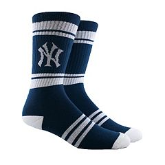Men's New York Yankees Striped Crew Socks