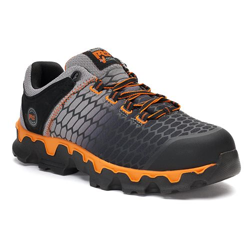 Timberland PRO Powertrain Sport Alloy Safety Toe Work Shoe(Men's) -Black Ripstop Nylon/Orange Sale Lowest Price Outlet Get Authentic The Best Store To Get YPSVA5oX