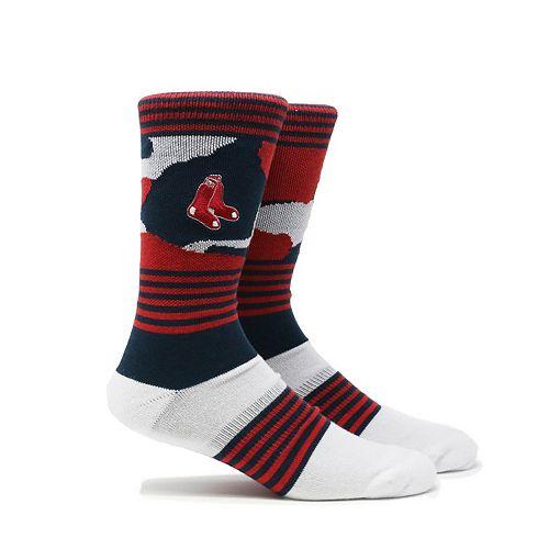 Men's Boston Red Sox Camouflage Crew Socks