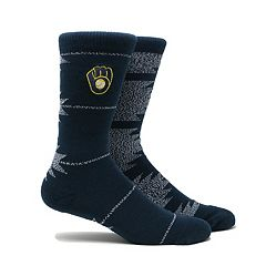 Men's Milwaukee Brewers Geo Crew Socks