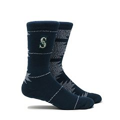 Men's Seattle Mariners Geo Crew Socks
