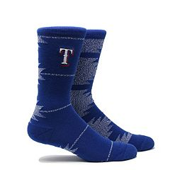 Men's Texas Rangers Geo Crew Socks