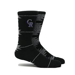 Men's Colorado Rockies Geo Crew Socks