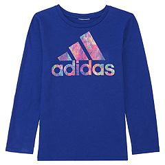 Girls 4-6x adidas Splatter Graphic Logo Tee