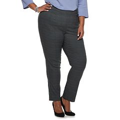 Plus Size Briggs Millennium Mid-Rise Straight-Leg Pants