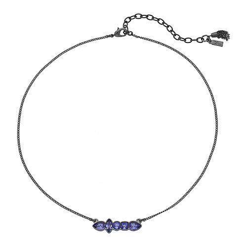 Simply Vera Vera Wang Purple Geometric Stone Necklace