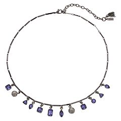 Simply Vera Vera Wang Purple Faceted Stone Necklace