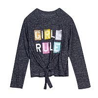 Girls 7-16 Harper & Elliott Tie-Front Hatchi Graphic Tee