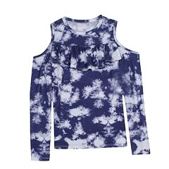 Girls 7-16 Harper & Elliott Cold Shoulder Ruffle Chest Tee