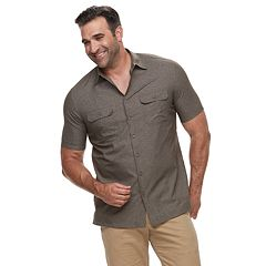 Big & Tall Croft & Barrow® Regular-Fit Quick-Dry Woven Button-Down Shirt