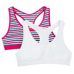Girls 7-16 SO® 2-pack Santoni Rackerback Bras