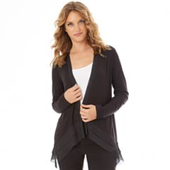 Women's Apt. 9® Chiffon Trim Cardigan