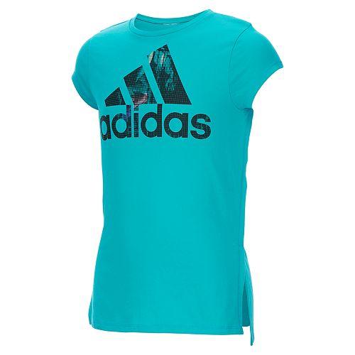 Girls 4-6x adidas High-Low Hem Graphic Tee