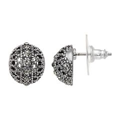 Simply Vera Vera Wang Simulated Crystal Filigree Button Stud Earrings