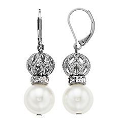 Simply Vera Vera Wang Filigree Bead & Simulated Pearl Drop Earrings