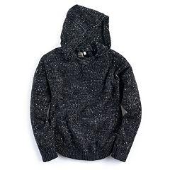 Girls Plus Size Mudd® Lace-Up Chenille Sweater Hoodie