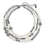 Simply Vera Vera Wang Simulated Pearl & Filigree Bead Multistrand Necklace