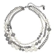 Simply Vera Vera Wang Simulated Pearl & Filigree Bead Multistrand Necklace