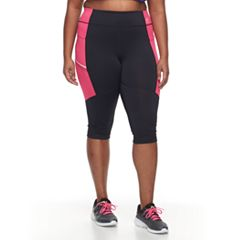 Plus Size FILA SPORT® Two-toned Capris