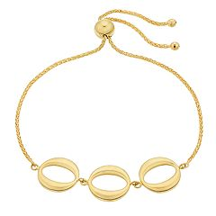 14k Gold Circle Link Bolo Bracelet