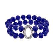 Napier Beaded Double Strand Stretch Bracelet