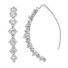 Simply Vera Vera Wang Crystal Threader Earrings