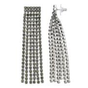 Simply Vera Vera Wang Gray Simulated Crystal Fringe Drop Earrings
