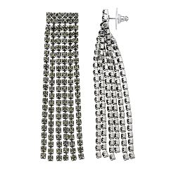 Simply Vera Vera Wang Gray Simulated Crystal Fringe Drop Earrings