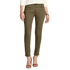 Petite Chaps 4-Way Stretch Straight-Leg Twill Pants