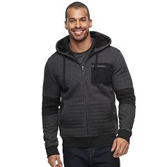 Men's Rock & Republic Puffer Sherpa-Lined Full-Zip Hoodie