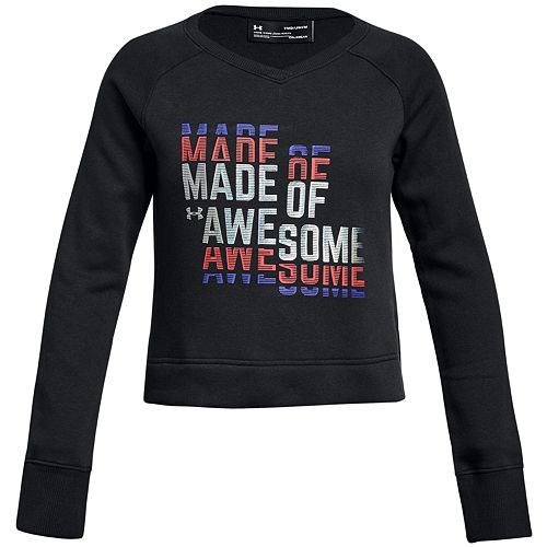 Girls 7-16 Under Armour Rival Fleece Made of Awesome Long Sleeve Tee