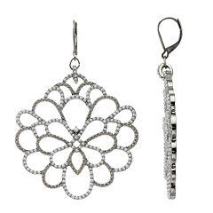 Simply Vera Vera Wang Simulated Pearl Flower Drop Earrings