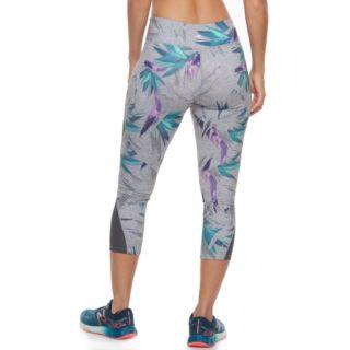 Women's Tek Gear® Performance Pieced Mesh Midrise Capri Leggings