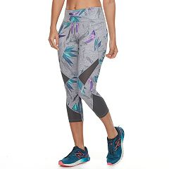 Women's Tek Gear® Performance Pieced Mesh Midrise Capri Leggings