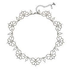 Simply Vera Vera Wang Simulated Pearl Flower Collar Necklace