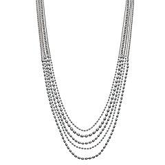 Simply Vera Vera Wang Simulated Crystal Long Multi Strand Necklace
