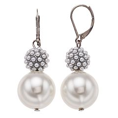 Simply Vera Vera Wang Simulated Pearl Double Drop Earrings