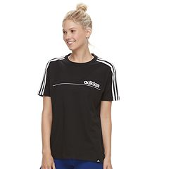 Women's adidas Linear Line Oversized Graphic Tee