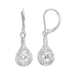 Napier Silver Tone Ball Drop Earrings