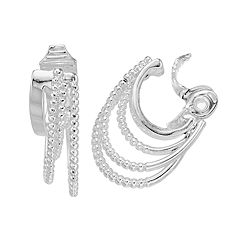 Napier Layered Hoop Clip-On Earrings
