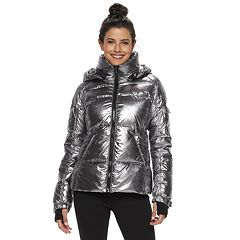 Women's S13 Hooded Metallic Down Puffer Coat