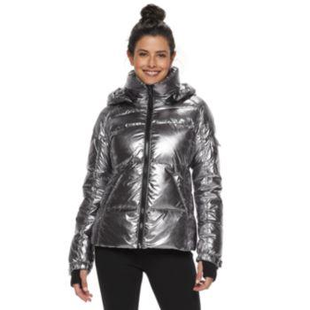 Women's S13 Hooded Metallic Down Puffer Coat
